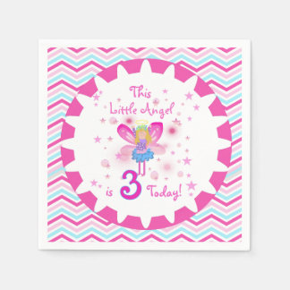 Little Angel 3rd Birthday Paper Napkins