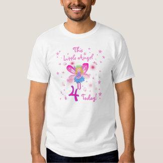 Little Angel 4th Birthday T Shirt