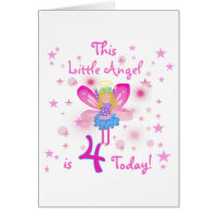 Little Angel 4th Birthday T-shirts and Gifts Cards