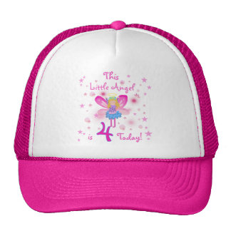 Little Angel 4th Birthday T-shirts and Gifts Trucker Hat