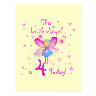 Little Angel 4th Birthday T-shirts and Gifts Postcard