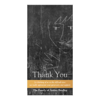 Little Angel 5 Child Drawing Sympathy Thank You Card
