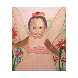 Little Angel, African American Wrapped Canvas