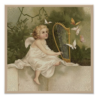 Little Angel and Butterflies Photo Print