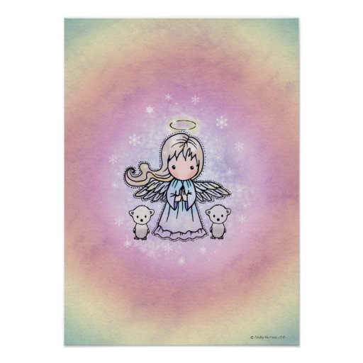 Little Angel and Polar Bears Poster