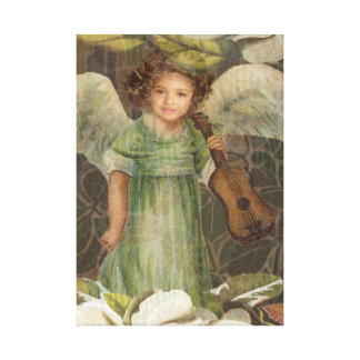Little Angel and Violin Canvas Print