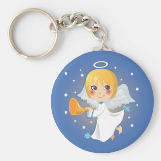 Little Angel Announcement Keychain