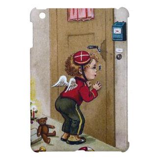 Little angel behind the door iPad mini cases