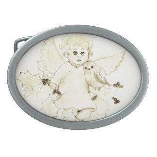 Little Angel Oval Belt Buckle