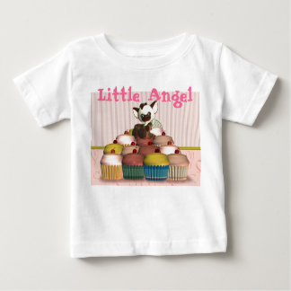 Little Angel, cupcake and cat, fairy cake Baby T-Shirt