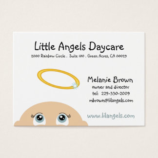 little ANGEL DAYCARE business card