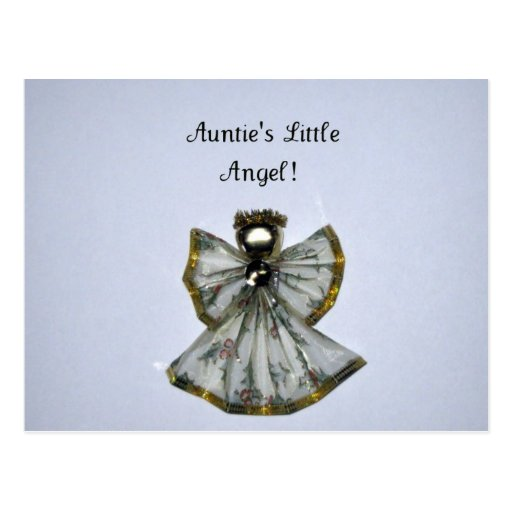 ¡Little Angel de tía! Tarjeta Postal