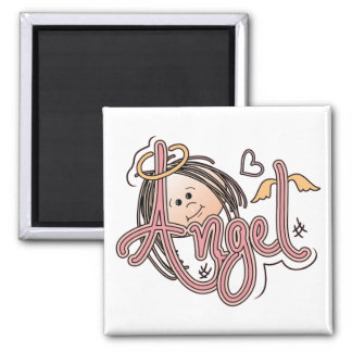 Little Angel Face 2 Inch Square Magnet