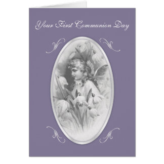 Little Angel First Communion Day Card