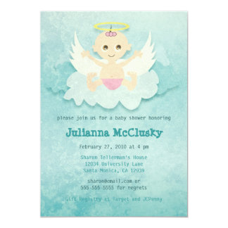 Little Angel - Girl - Caucasian Card