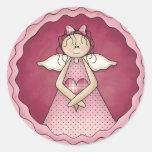 Little Angel Girl D1 Design Stickers