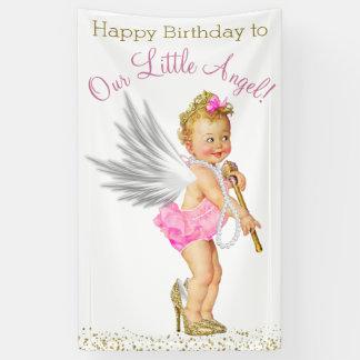Little Angel Girls Birthday Party Banner