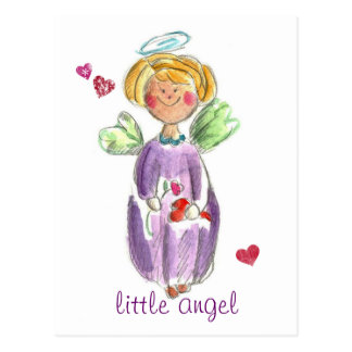 Little Angel Hearts and Love Postcard