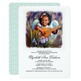 Little Angel Holy Communion Invitations