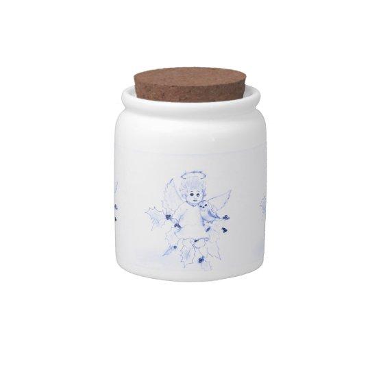 Little Angel in Blue Candy Jar