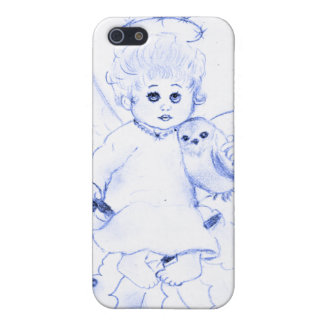 Little Angel in Blue Case For iPhone SE/5/5s