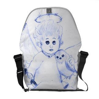 Little Angel in Blue Courier Bag