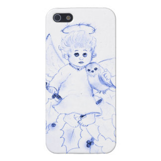 Little Angel in Blue Cover For iPhone SE/5/5s