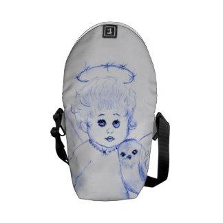 Little Angel in Blue Messenger Bag