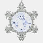 Little Angel in Blue Ornament