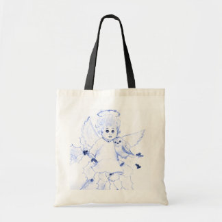 Little Angel in Blue Tote Bag