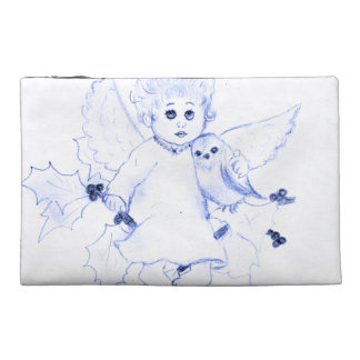 Little Angel in Blue Travel Accessory Bag