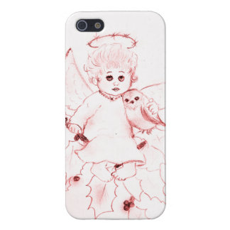 Little Angel in Bright Red Cover For iPhone SE/5/5s
