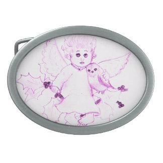 Little Angel in Pink Belt Buckle