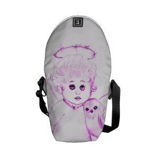 Little Angel in Pink Courier Bag