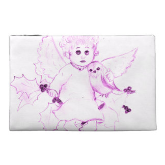 Little Angel in Pink Travel Accessory Bag