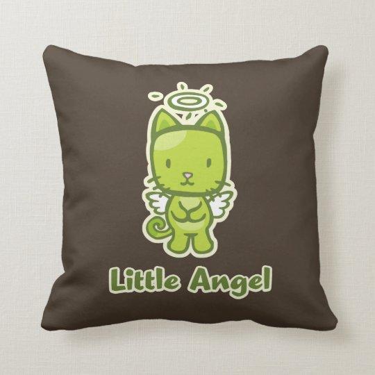 Little Angel, Little Devil Kitty Cat Reversible Throw Pillow