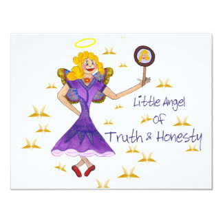 Little Angel of Truth and Honesty Personalized Invite