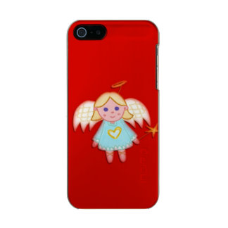 Little Angel on Red Metallic Phone Case For iPhone SE/5/5s
