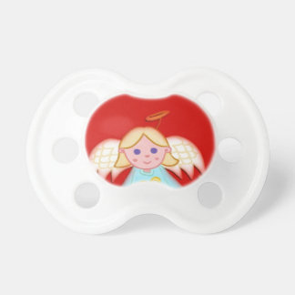Little Angel on Red Pacifier