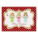 Little Angel Sisters, Greeting Card