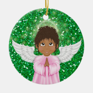 Little Angel - SRF Double-Sided Ceramic Round Christmas Ornament