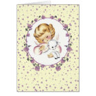 Little Angel with Lamb.Christian Easter Cards