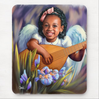 Little Angel with Lute Gift Mousepads