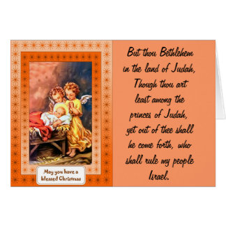 Little angels at the manger card