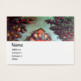 LITTLE ANGELS MONOGRAM antique blue red white Business Card
