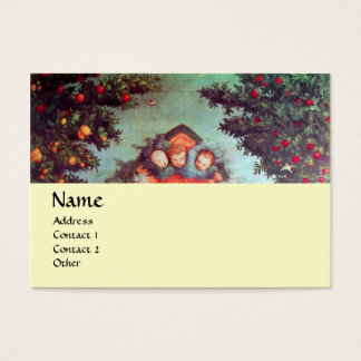LITTLE ANGELS MONOGRAM antique blue red yellow Business Card
