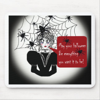 Little Anime Spider Woman Mouse Pad