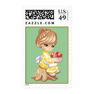 Little Apple Girl Stamp