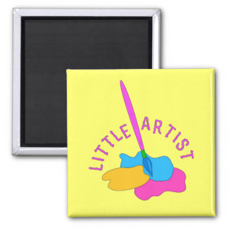 Little Artist 2 Inch Square Magnet