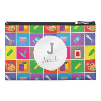 Little Artist Arts Crafts Colourful Pattern Kids Travel Accessory Bags